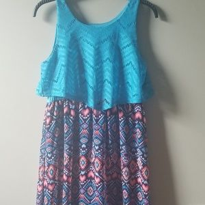 💖BLUE AND PINK FLOWY DRESS💖